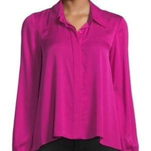 NWT MILLY Silk Long Sleeve Penelope Top - OFFER!